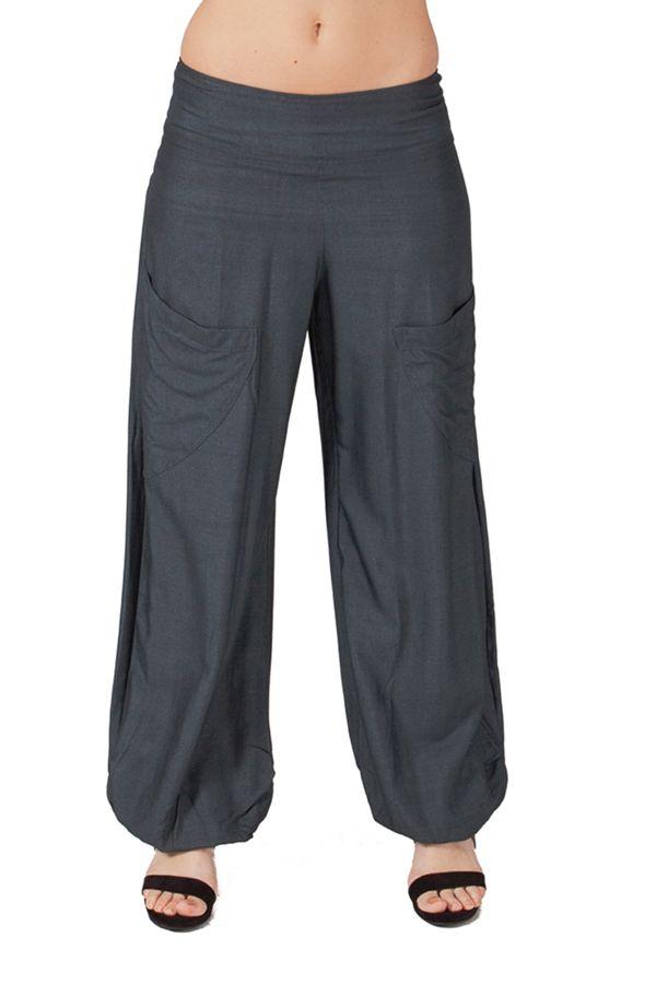Pantalon Gris pour femme Fluide et Ethnique Cédric 282248