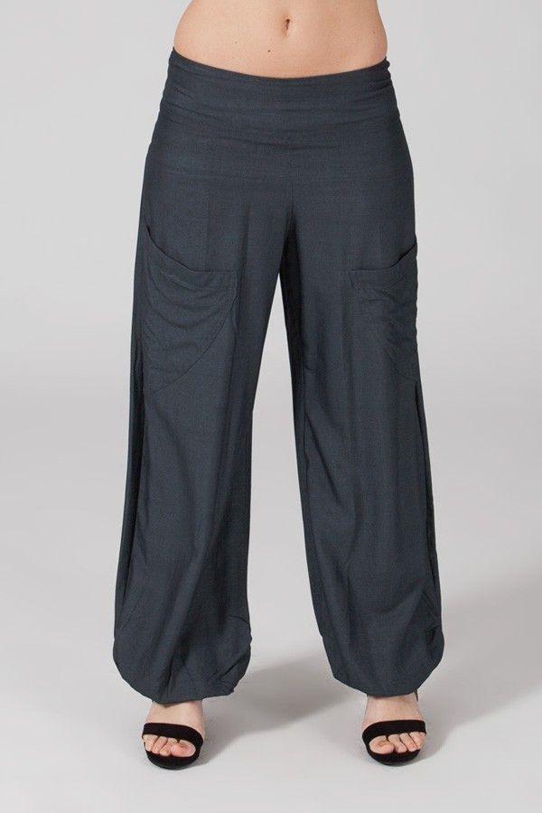 Pantalon Gris pour femme Fluide et Ethnique Cédric 318545