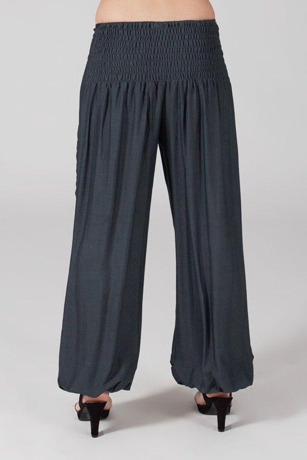 Pantalon Gris pour femme Fluide et Ethnique Cédric 318546