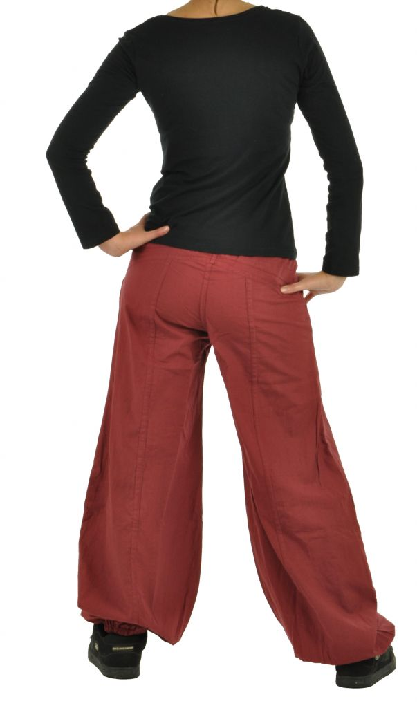 Pantalon gulika bordeau 266318