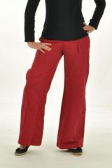 Pantalon gulika rouge 243632