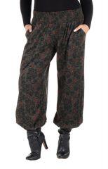 Pantalon hivers grande taille bouffant original et ethnique Rosalia 298460