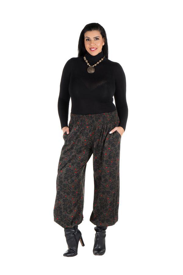 Pantalon hivers grande taille bouffant original et ethnique Rosalia 298461