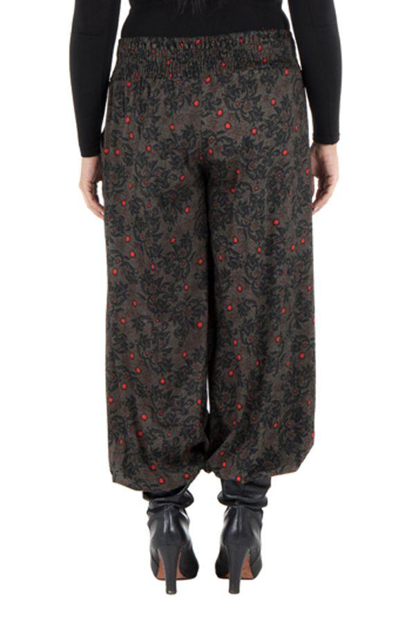Pantalon hivers grande taille bouffant original et ethnique Rosalia 298462