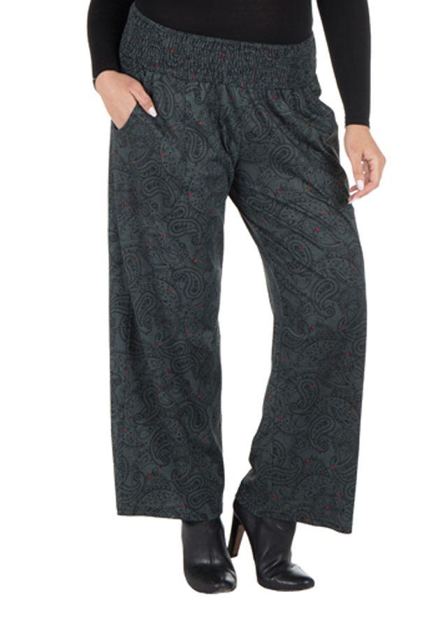 Pantalon hivers grande taille Gris ample et original Stacy 298444
