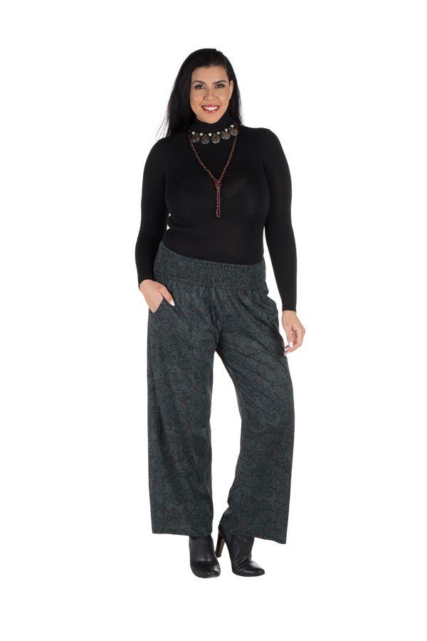 Pantalon hivers grande taille Gris ample et original Stacy 298445