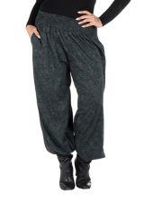 Pantalon hivers grande taille Gris bouffant imprimé original Boya 298452