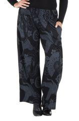 Pantalon hivers grande taille Noir imprimé et ethnique Johanna 298436