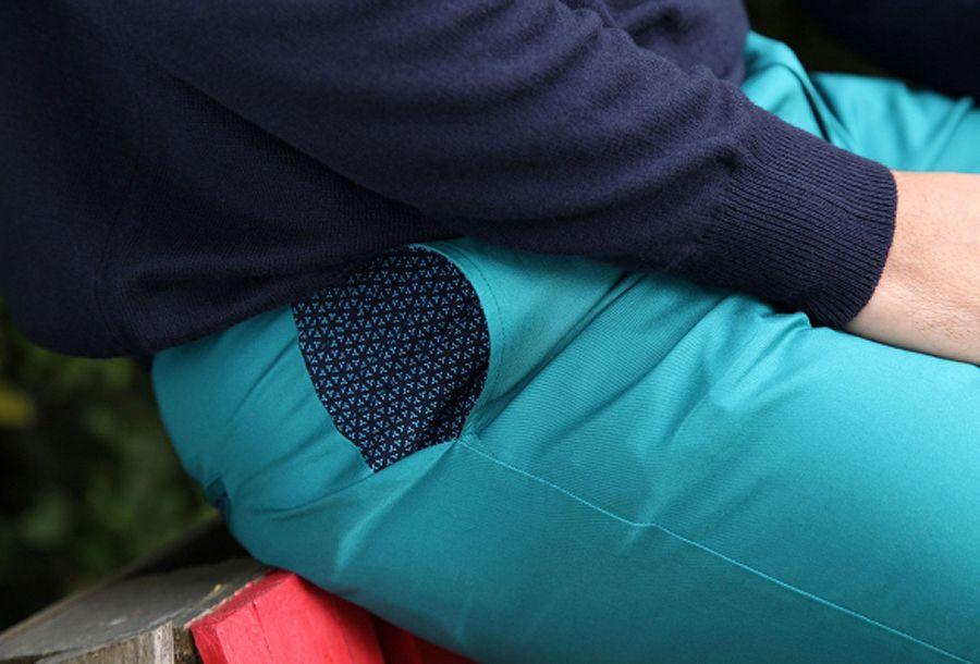 Pantalon homme chino bleu chic fête couleur pas cher Jule 314361