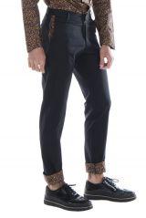 Pantalon homme chino noir mariage soirée pas cher Arman 314320