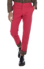 pantalon homme chino rouge original slim pas cher Hélios 314300
