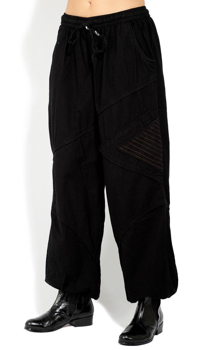Pantalon homme ou femme noir large en coton Colombo 322926