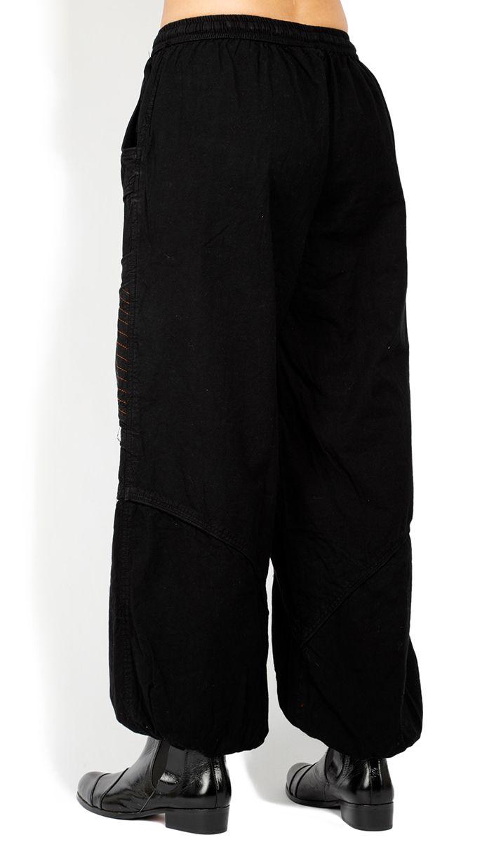 Pantalon homme ou femme noir large en coton Colombo 322928