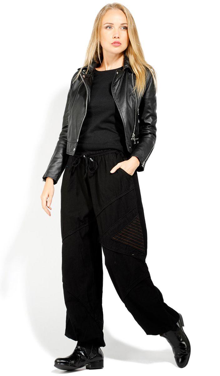 Pantalon homme ou femme noir large en coton Colombo 322929