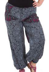 Pantalon Imprimé et Original Grande Taille Lionel Gris 283776
