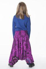 Pantalon imprimé style sarouel original pour enfant 286173