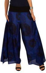 Pantalon imprimé très original à la taille bandeau Kyle 309892