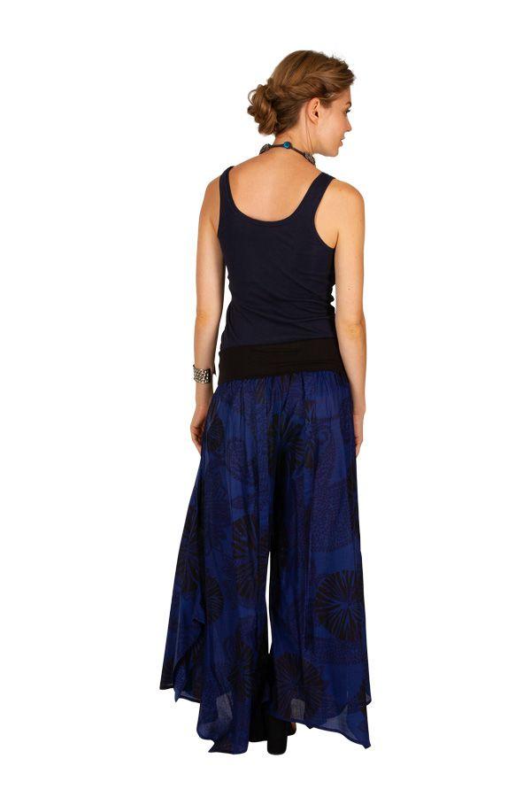 Pantalon imprimé très original à la taille bandeau Kyle 309894
