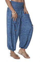 Pantalon indien large pour femme bleu Bollywood 282840