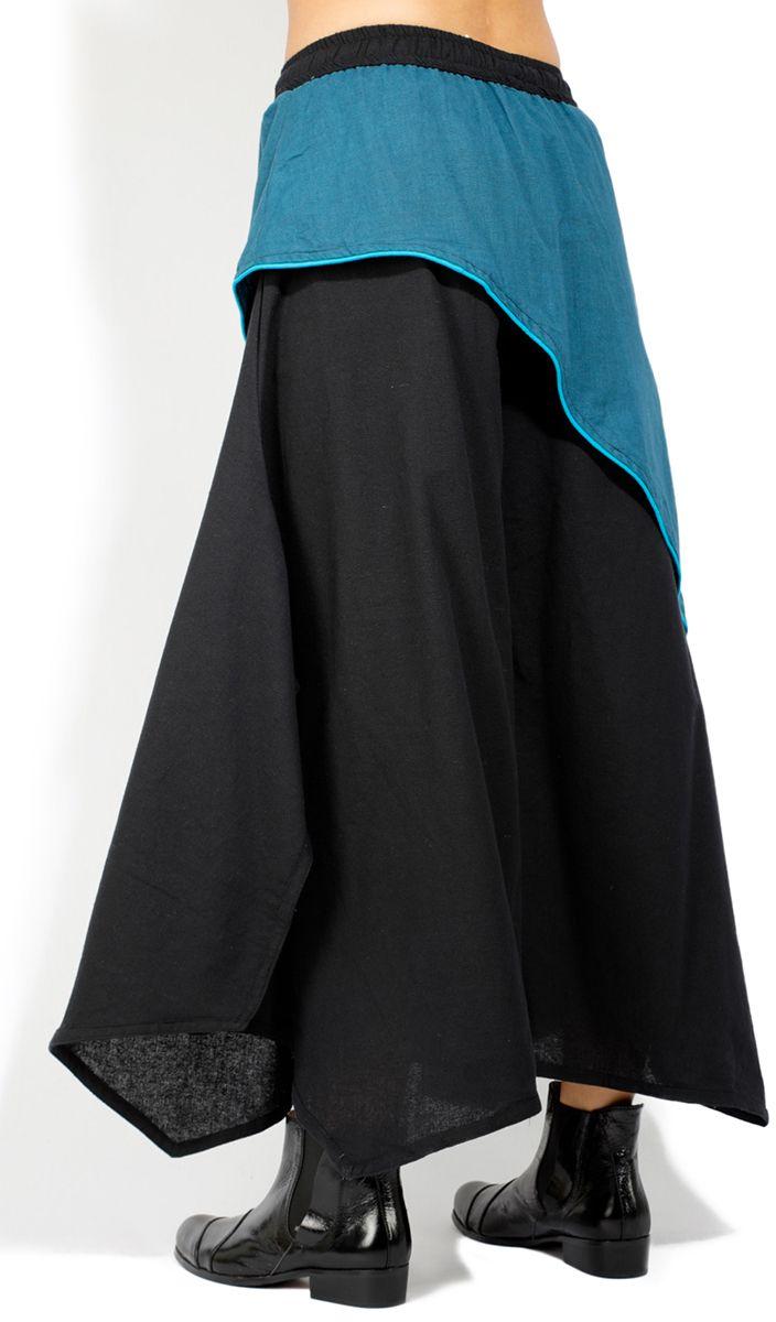 Pantalon jupe femme large et longue ethnique Cartago