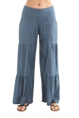 Pantalon large à style volants Coloré et Original Donald Gris 282346