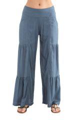 Pantalon large à style volants Coloré et Original Donald Gris 282346