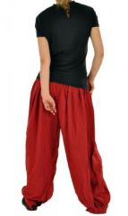 Pantalon large aladin agibs rouge 255171