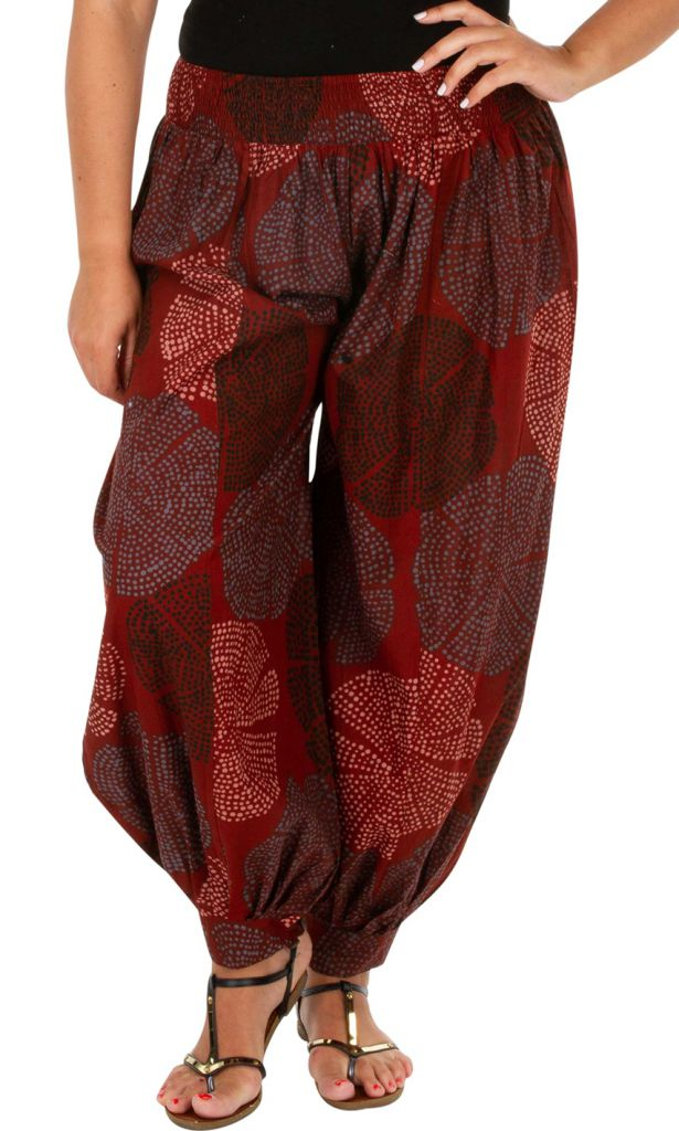 Pantalon large aladin pour femme grande taille Milah 306630