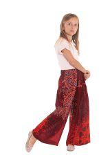 Pantalon Large Bordeaux Coloré et Fantaisie pour enfant Buck 279933