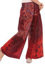 Pantalon Large Bordeaux Coloré et Fantaisie pour enfant Buck 279934