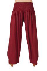 Pantalon large Bordeaux pour femme Ethnique et Agréable Glenn 282271