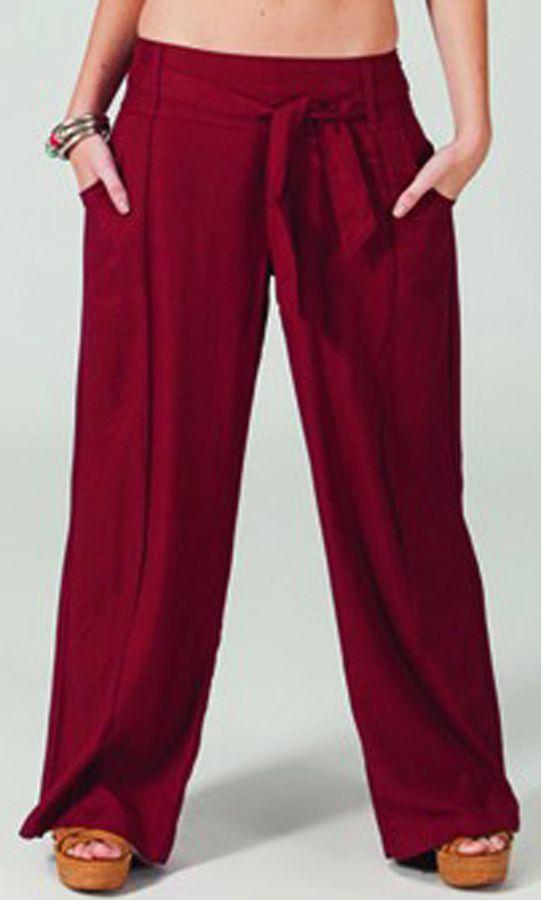 pantalon large bordeaux pour femme ethnique et agreable glenn. Black Bedroom Furniture Sets. Home Design Ideas