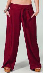 Pantalon large Bordeaux pour femme Ethnique et Agréable Glenn 282336