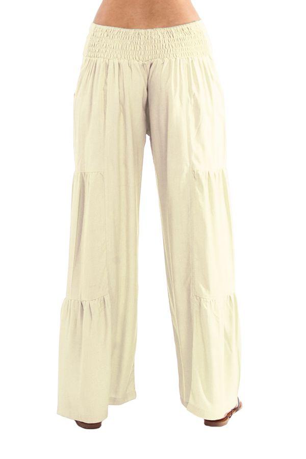 Pantalon large Crème style volants Ethnique et Original Donald 282342