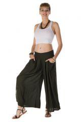 pantalon large et fluide de couleur noire Salvador 288703