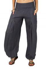 Pantalon large et léger pour femme gris Guy 282627