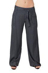 Pantalon large Ethnique et Agréable Glenn pour femme Gris 282280