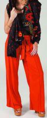 Pantalon large Ethnique et Agréable Glenn Rouille pour femme 274719