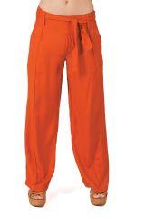 Pantalon large Ethnique et Agréable Glenn Rouille pour femme 282276