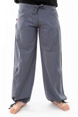Pantalon large ethnique gris du Népal pour homme Duna 305554