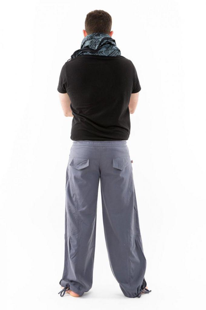 Pantalon large ethnique gris du Népal pour homme Duna 305556