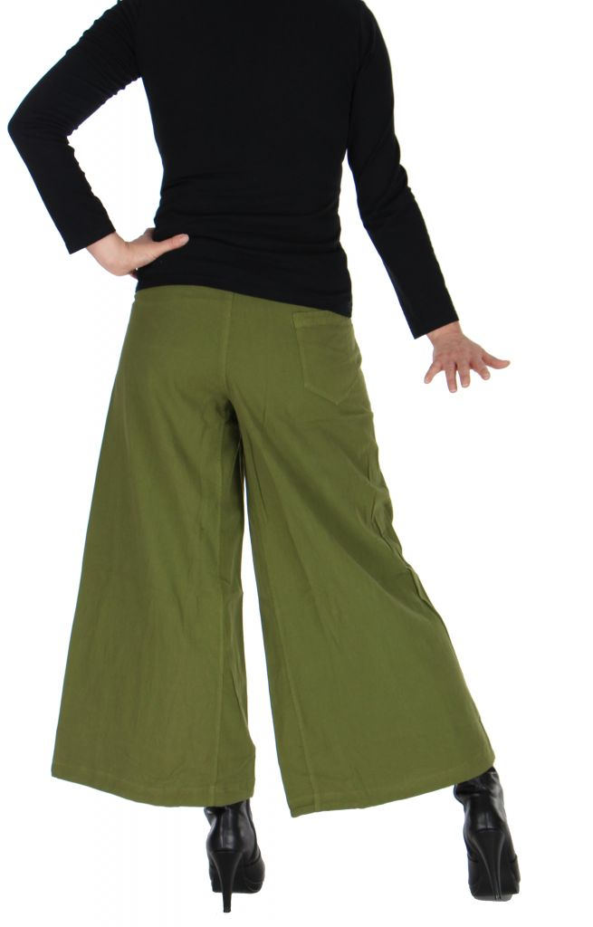 Pantalon large ethnique norane kaki 264499