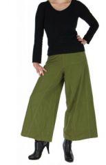 Pantalon large ethnique norane kaki 264500