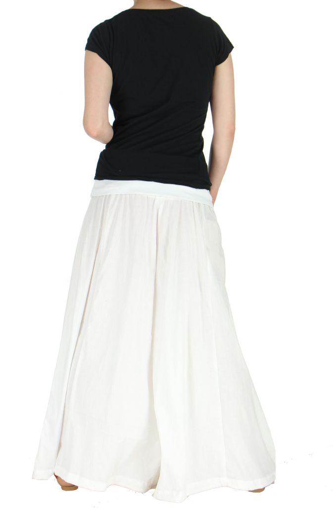 Pantalon large femme audrey blanc 262195