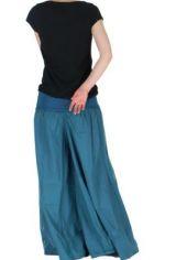 Pantalon large femme audrey bleu 261149