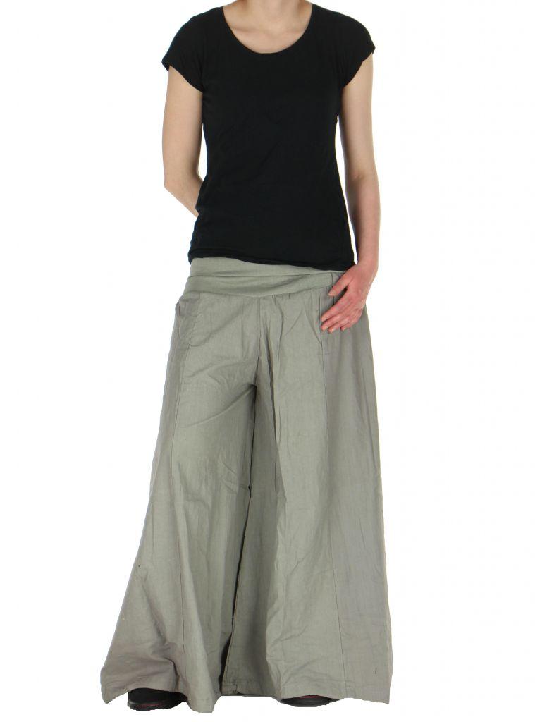 Pantalon large femme audrey gris 261152