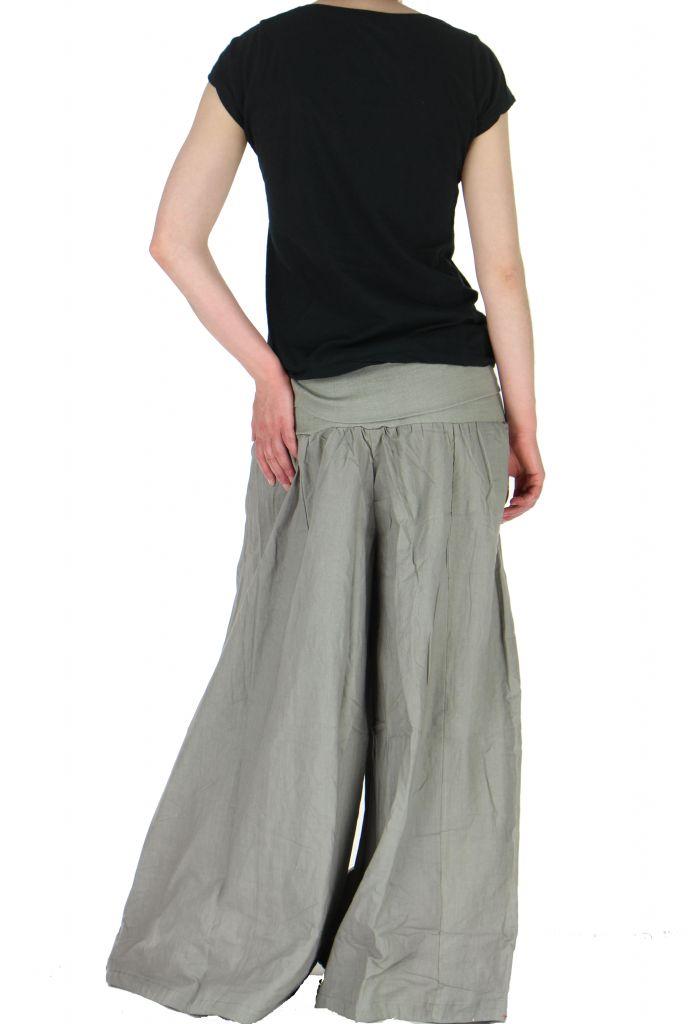 Pantalon large femme audrey gris 261153