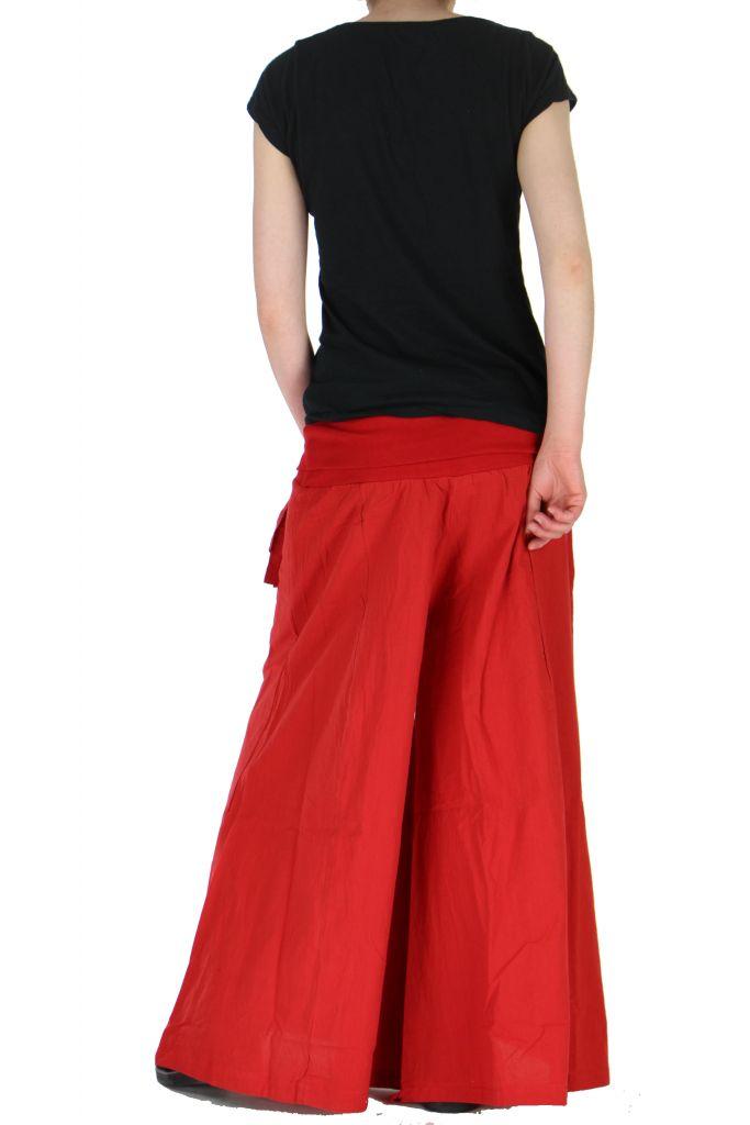 Pantalon large femme audrey rouge 261151