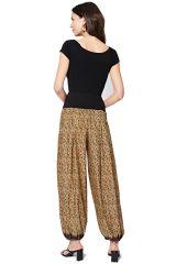 Pantalon large femme fluide à fleurs d\'été pas cher Arina