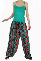 Pantalon large fluide imprimé aline 260172